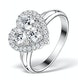 1.20ct Diamond and 18K White Gold Galileo Ring FT70 - image 1