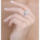 1.20ct Diamond and 18K White Gold Galileo Ring FT70 - image 3