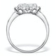 1.20ct Diamond and 18K White Gold Galileo Ring FT70 - image 2