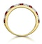 Ruby and 0.50ct Diamond Asteria Eternity Ring in 18K Gold - image 3