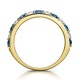 Sapphire and 0.50ct Diamond Asteria Eternity Ring in 18K Gold - image 3