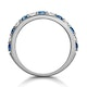 Sapphire and 0.50ct Diamond Asteria Eternity Ring in 18K White Gold - image 3