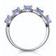 1.20ct Tanzanite Asteria Eternity Halo Diamond Ring in 18K White Gold - image 2