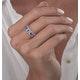 1.20ct Tanzanite Asteria Eternity Halo Diamond Ring in 18K White Gold - image 3