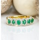 Emerald and Diamond Halo Eternity Ring 18K Gold - Asteria Collection - image 4