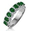 Emerald and Diamond Halo Eternity Ring 18KW Gold Asteria Collection - image 1