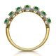 Emerald and Diamond Halo Eternity Ring 18K Gold - Asteria Collection - image 3