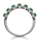 Emerald and Diamond Halo Eternity Ring 18KW Gold Asteria Collection - image 3