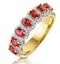 Ruby and Diamond Halo Eternity Ring in 18K Gold - Asteria Collection - image 1