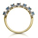 Sapphire and Diamond Halo Eternity Ring 18K Gold - Asteria Collection - image 3