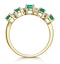 1.30ct Emerald and Diamond Eternity Ring 18K Gold - Asteria Collection - image 3