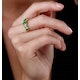 1.30ct Emerald and Diamond Eternity Ring 18K Gold - Asteria Collection - image 2