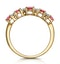 1.85ct Ruby and Diamond Eternity Ring in 18K Gold - Asteria Collection - image 3