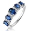 1.85ct Sapphire and Diamond Eternity Ring 18KW Gold Asteria Collection - image 1