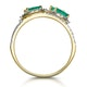 Emerald and Diamond Halo Statement Ring 18K Gold - Asteria Collection - image 3