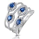 Sapphire and Diamond Statement Ring in 18KW Gold - Asteria Collection - image 1