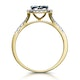 Sapphire and Diamond Halo Square Ring in 18K Gold - Asteria Collection - image 3