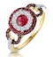 0.90ct Ruby and Diamond Cirlces Ring in 18K Gold - Asteria Collection - image 1