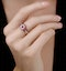 0.90ct Ruby and Diamond Cirlces Ring in 18K Gold - Asteria Collection - image 2
