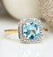 2ct Blue Topaz and Diamond Statement Ring 18K - Asteria Collection - image 4