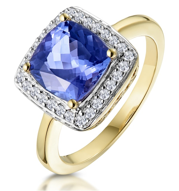 2ct Tanzanite and Diamond Statement Ring 18K Gold - Asteria Collection - image 1