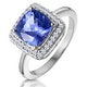 2ct Tanzanite and Diamond Statement Ring in 18K - Asteria Collection - image 1