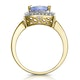 2ct Tanzanite and Diamond Statement Ring 18K Gold - Asteria Collection - image 3