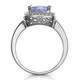 2ct Tanzanite and Diamond Statement Ring in 18K - Asteria Collection - image 3