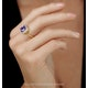 2ct Tanzanite and Diamond Statement Ring in 18K - Asteria Collection - image 2