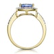 2ct Tanzanite and Diamond Shoulders Asteria Ring in 18K Gold - image 3