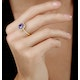 2ct Tanzanite and Diamond Shoulders Asteria Ring in 18K Gold - image 2