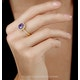 2ct Tanzanite and Diamond Shoulders Asteria Ring in 18K White Gold - image 2