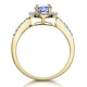 Tanzanite and Diamond Oval Halo Ring in 18K Gold - Asteria Collection - image 3