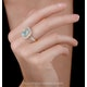 4.7ct Blue Topaz and Diamond Shoulders Asteria Ring in 18K White Gold - image 2