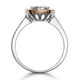 Diamond and Pink Diamond Circle Halo Ring in 18KW - Asteria Collection - image 3