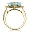 5.40ct Blue Topaz and Diamond Asteria Statement Ring in 18K Gold - image 3