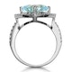 5.40ct Blue Topaz and Diamond Asteria Statement Ring in 18KW Gold - image 3