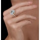 5.40ct Blue Topaz and Diamond Asteria Statement Ring in 18K Gold - image 2