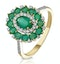 1.35ct Emerald Asteria Collection Diamond Halo Ring in 18K Gold - image 1
