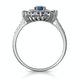1.55ct Sapphire Asteria Diamond Halo Ring in 18K White Gold - image 2