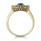 1.55ct Sapphire Asteria Collection Diamond Halo Ring in 18K Gold - image 2