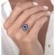 1.55ct Sapphire Asteria Diamond Halo Ring in 18K White Gold - image 3