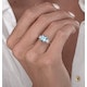 2.50ct Cushion Cut Blue Topaz Diamond Asteria Ring in 18K White Gold - image 3
