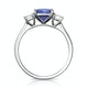 1.60ct Cushion Cut Tanzanite Diamond Asteria Ring in 18K White Gold - image 2