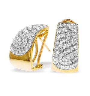 9K Gold Diamond Detail Earrings (0.74ct)