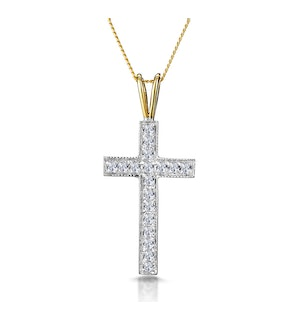 0.27ct Diamond Pave Cross in 9K White Gold