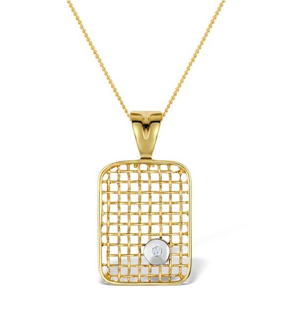 Diamond 0.02ct 9K Gold Pendant - RTC-G3319 - image 1