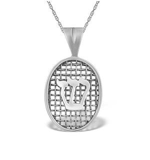 0.01ct Diamond and 9K White Gold Pendant