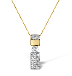 Diamond 0.24ct 9K Gold Single Stone Pendant - RTC-G3674