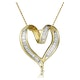 Heart Pendant 0.33ct Diamond 9K Yellow Gold - image 1